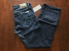 VINTAGE ZOO YORK DENIM JEANS INDIGO BLUE PANTS REGULAR NYC BUTTON FLY 32 x 30