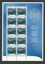 2004 Athens Olympics Women's 100m Medley Mini Sheet  Complete MUH/MNH as Issued