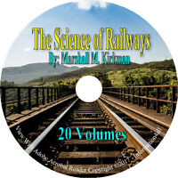 The Science of Railways 20 Volumes Books on CD Train Railroad Service Handbook