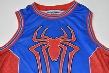 Mens Amazing Spiderman 2 Jersey Size M-38/40, Basketball #62, Red Blue Logo