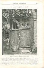Maison de François Ier à Abbeville dans la Somme GRAVURE ANTIQUE OLD PRINT 1894