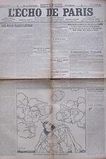 WW1 GUERRE 1914 - 1918 LOT 30/31 JOURNAL ECHO DE PARIS JUILLET 1916 SOMME VERDUN