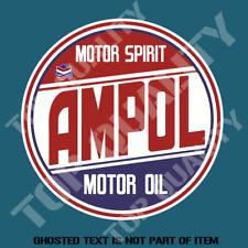 VINTAGE AMPOL MOTOR SPIRIT PETROL OIL Decal Sticker Vintage Hot Rod Stickers
