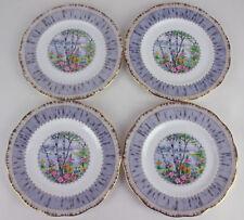 4 x Bread Plates Royal Albert Silver Birch vintage bone china England