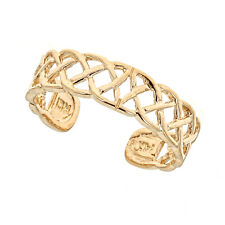 14k Solid Gold Woven Filigree Toe Ring Body Art Adjustable