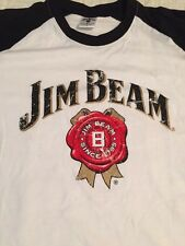 Jim Beam Kentucky Straight Bourbon Whiskey Men's Shirt Size Large 3/4 Sleeve