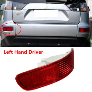 For Mitsubishi Outlander Tail Fog Light Cover Bumper Reflector Rear Left Driver