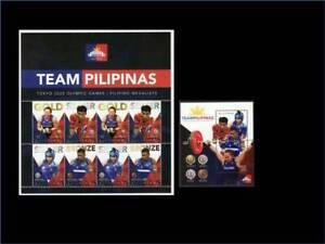 Philippines – 2021 Tokyo Olympics Filipino Medalists MS/8 + Souvenir Sheet, MNH