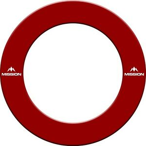 Mission Printed Dartboard Surrounds - Red