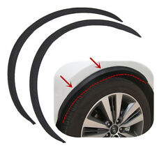 2Pcs Black Carbon Fiber Style Fender Flare Wheel Lip Protector Car Decor Strips