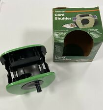 Vintage Johnson Card Shuffler 9000 Hand Crank Green Very Good! 1982