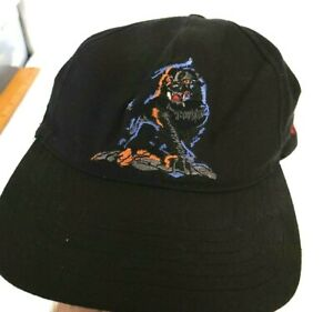 Vintage Busch Gardens I Survived Kumba Snapback Hat Baseball Cap Black RARE USA