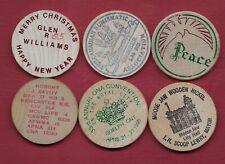 6 Misc Numismatic Wood Pieces