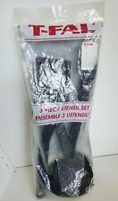 New listing Vintage T-Fal Black Nylon 3 Piece Utensil Set Made In Canada New