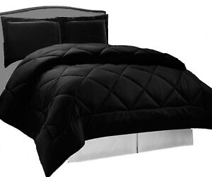 Down Alternative Reversible Comforter Set Twin, Full Queen or King Size