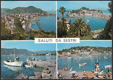 AD5042 Saluti da Sestri Levante (GE) - Vedute - Cartolina postale - Postcard