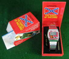 Dukes of Hazzard General Lee Watch Confederate symbol Steel Band + Case WORKING