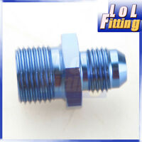 6AN AN6 AN-6 Flare To M18x1.5 Metric Straight Fittings Aluminum Blue