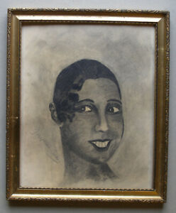 Authentic Josephine Baker pencil drawing. Signed and dated 1933. Must see!