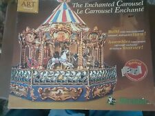 Wrebbit The Enchanted Carousel build art collection 3D puzzle new in box!