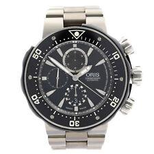 Oris Pro-Diver 1000m Titanium Black Dial Automatic Watch 01 674 7630 7154-SET