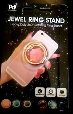 360° Mount Bling PINK Finger Ring Stand Rosegold Holder Universal For Cell Phone
