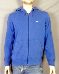 euc Nike Men's Blue Full Zip Hoodie Sweatshirt Tiny Center Swoosh Travis Scott M