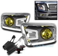 BUMPER DRIVING FOG LIGHTS LAMP YELLOW W/50W 6K HID+SWITCH FOR 16-17 TITAN PICKUP