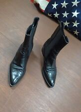 Tremp Womens black Ankle Boots all leather made in Italy sz 40