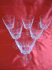 6 verres à eau en cristal D' ARQUES service VERSAILLES no 1