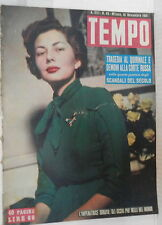 TEMPO 10 Novembre 1951 Imperatrice Soraya Leone Lodi La Malfa Ostetriche Vienna