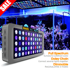 Dimmable Mars AQUA 165W LED Aquarium Light Full Spectrum Coral Reef Marine Tank