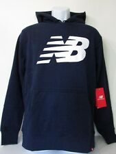 New Balance  Mens Navy Blue Pullover Graphic Essentials FT Hoodie, Size M new