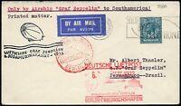 Zeppelin Großbritannien 1933 6. Südamerikafahrt Zuleitungspost  Si 229 B / 774