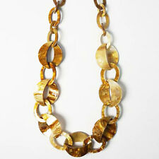 CHUNKY NATURAL LONG LINK CHAIN NECKLACE