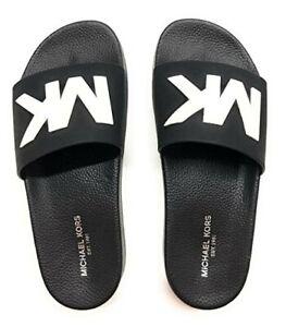 Michael Kors Mens Slides Sandals Front Michael Kors Eva Flip Flops- UNISEX