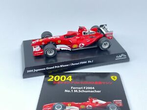 Kyosho 1/64 Ferrari F1 F2004 #1 M.Schumacher Tabaco decal Tracking number free