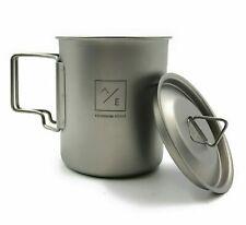 Titanium 450ml Cup Mug Folding Handles - Compact Travel Camping Backpackin