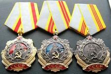 """RARE SOVIET RUSSIAN SET OF  MEDALS """"ORDER OF LABOR GLORY 1,2, 3 st"""" USSR. COPY"""