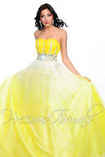 Precious Formals P46697 Yellow Ombre Ball Gown Dress 2