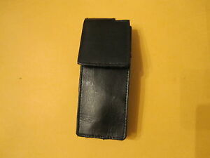 GENUINE LEATHER UNIVERSAL  VERTICAL PHONE CASE BELT HOOK BLACK NEW
