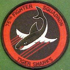 U.S. Air Force 75th Fighter Squadron Tiger Sharks Patch