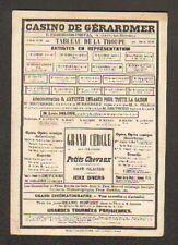 GERARDMER (88) Carte Postale de Genre Affiche Publicitaire : CASINO DE GERARDMER