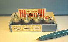 3 Ice Cream Syrup Topping Pump Bar w/sprinkleTub : Dollhouse G400-LB227-228