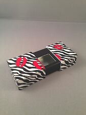 Zebra Print & Red Lips Rectangular Pocket Ashtray