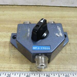 COAX SWITCH 2 position UHF Connectors  MFJ-1702B HAM RADIO