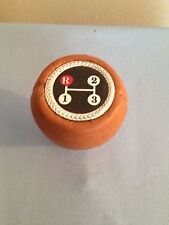 VINTAGE BROWN 3 SPEED CAR GEAR SHIFT KNOB REPLACEMENT NO MOUNTING HARDWARE