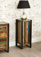 Urban Chic reclaimed wood indian furniture tall plant stand lamp side table