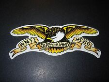 "ANTI SKATEBOARDS 5"" Hero Eagle skater Skate STICKER helmets decal"