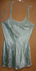 NEW Morgan Taylor Pale Mint Green Silky Chemise Nightgown XL Sleeveless